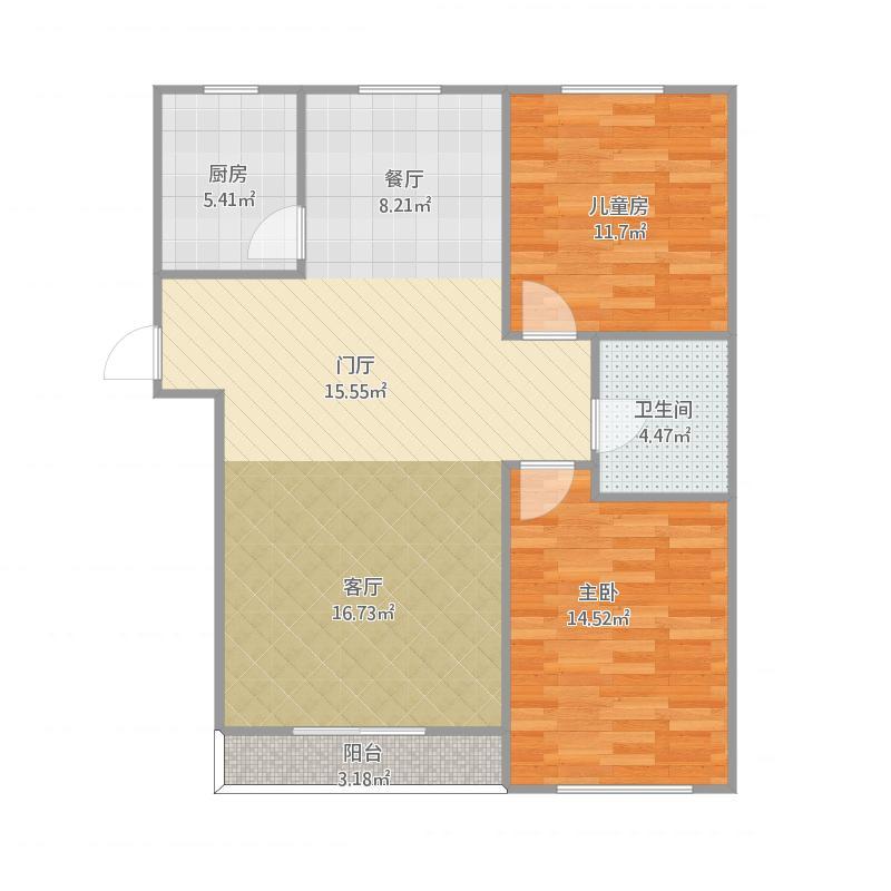 两室两厅一卫-1