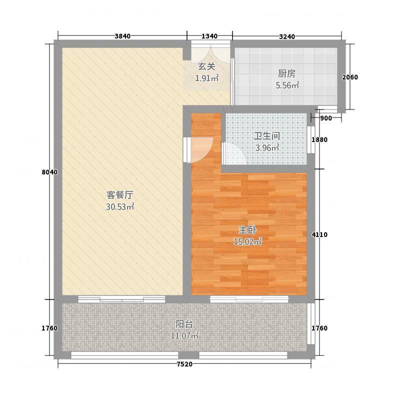 如歌花苑315.72㎡户型1室2厅1卫1厨