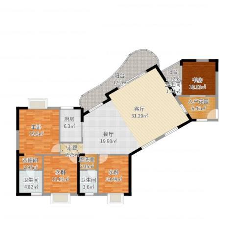 御景豪庭4室1厅3卫1厨200.00㎡户型图