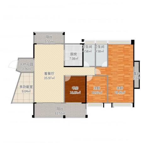 优越香格里3室1厅2卫1厨180.00㎡户型图