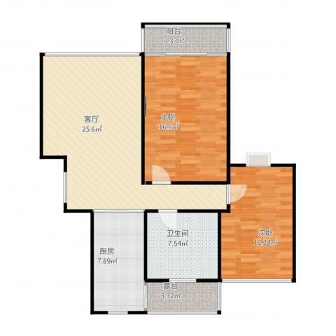 真光新秀2室1厅1卫1厨103.00㎡户型图