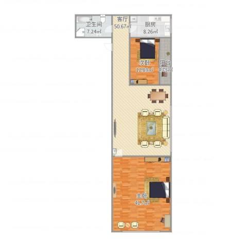 馆驿街新区2室1厅1卫1厨132.44㎡户型图