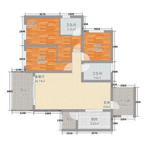 自在山居3室1厅2卫1厨312.00㎡户型图