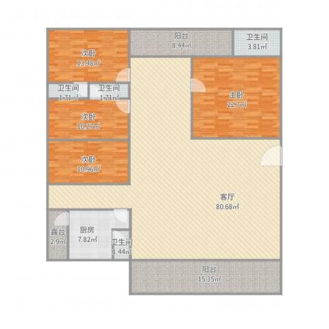 海景楼4室1厅4卫1厨241.00㎡户型图