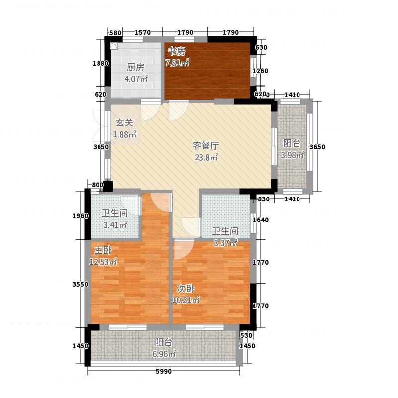 华章御树湾23811.20㎡2#3#8#9#D户型3室3厅3卫1厨