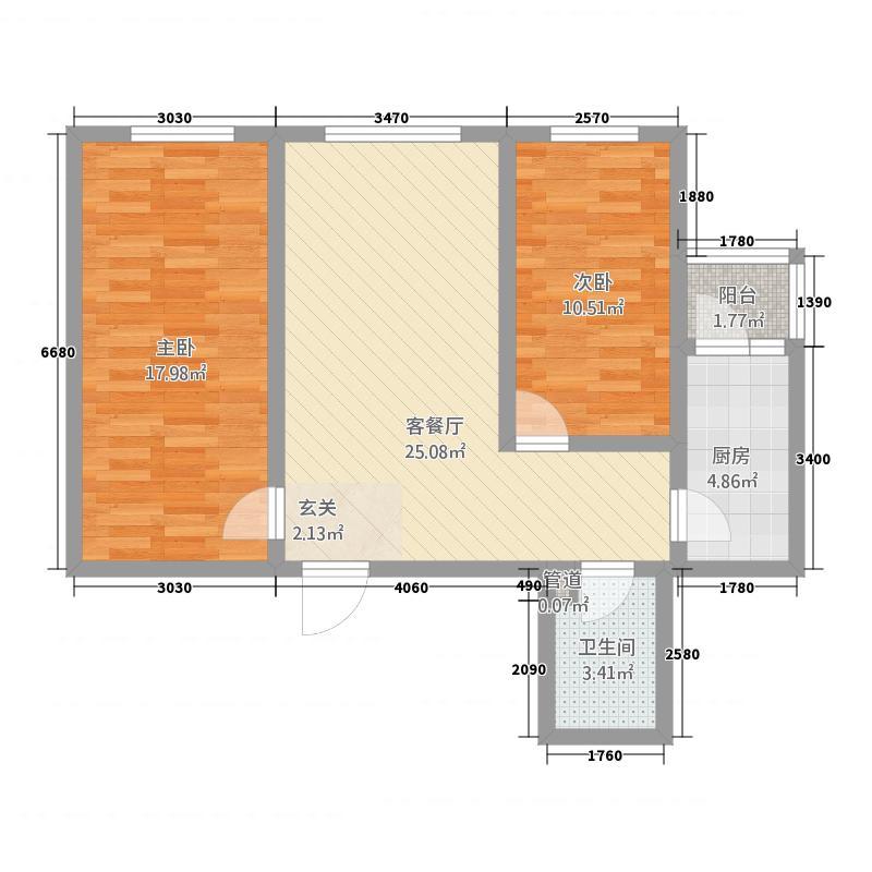 绿地庄园222.20㎡户型2室1厅1卫1厨