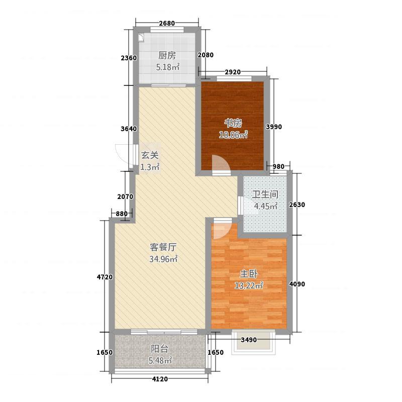 华安凤城丽景5.20㎡B5图库・104户型2室1厅1卫