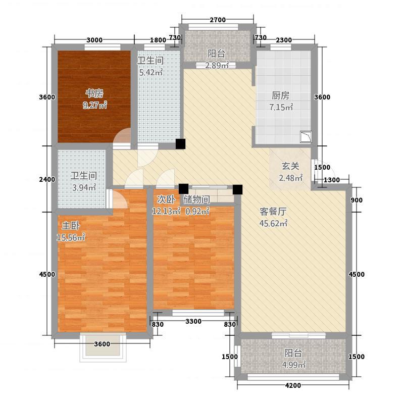 新东方商务公馆3221136.25㎡户型3室2厅2卫1厨