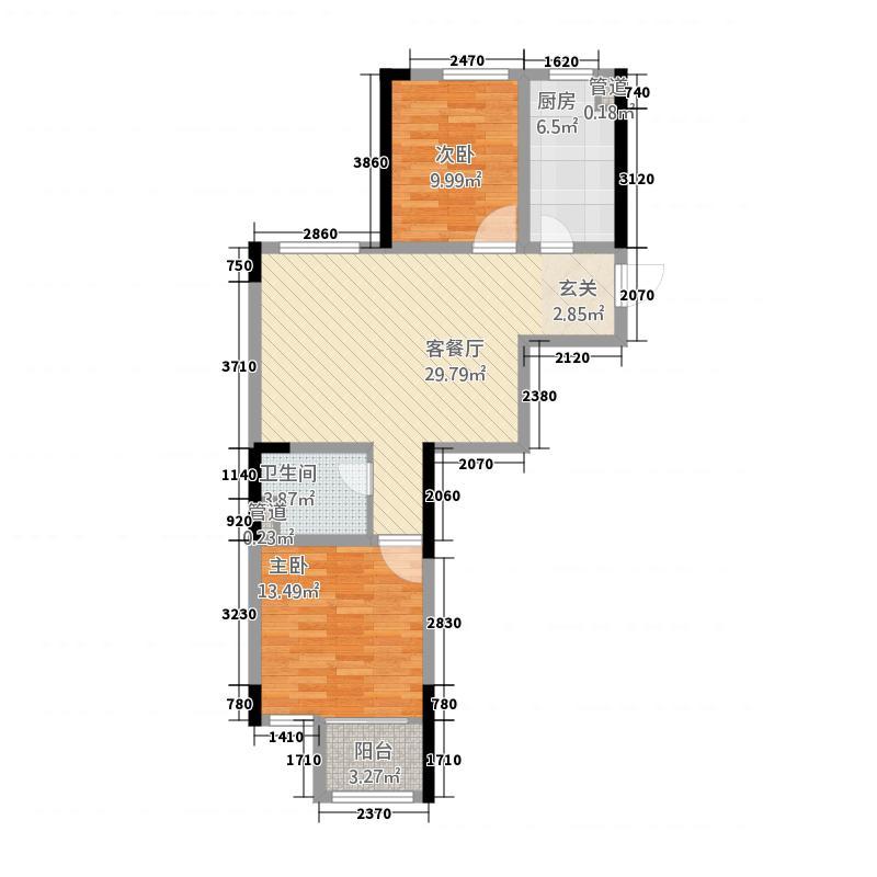 墨河嘉苑1456.54㎡1#4#5#A户型2室2厅1卫1厨