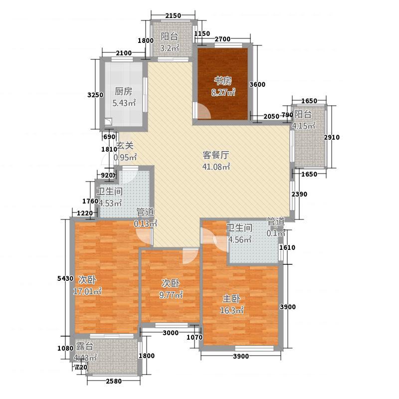兆盛金色华庭14142.20㎡户型4室2厅2卫1厨