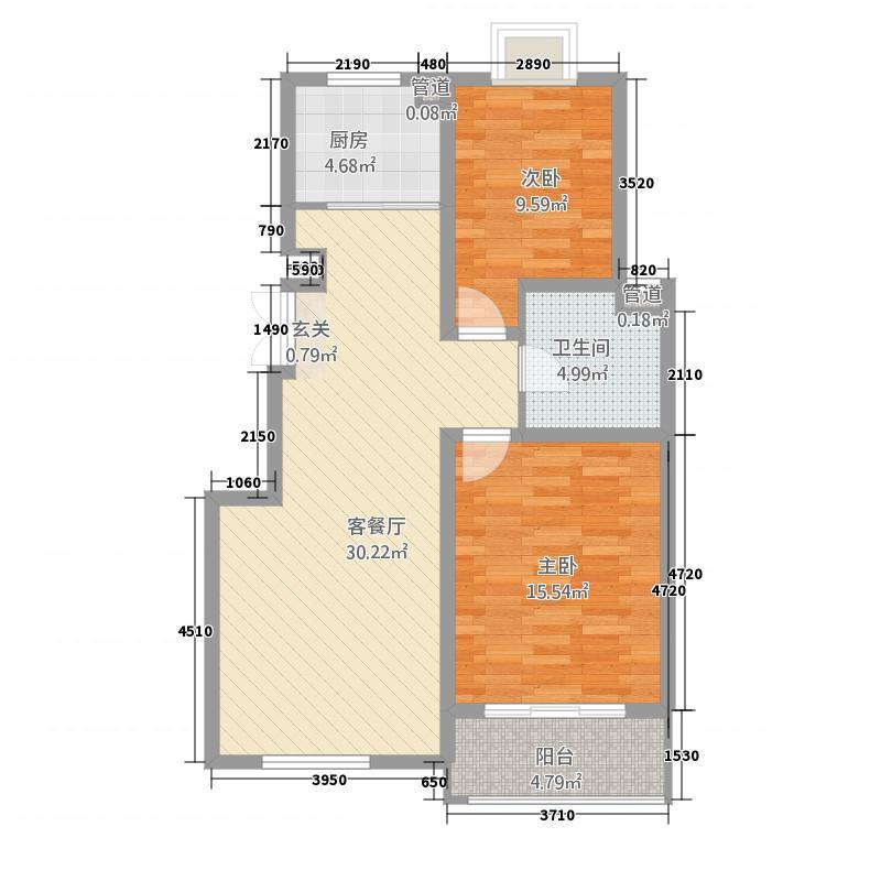 鑫品佳园221.20㎡G户型2室2厅1卫1厨