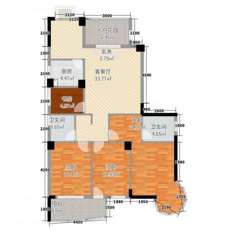 宏源大景城4室1厅2卫1厨32119.00㎡户型图