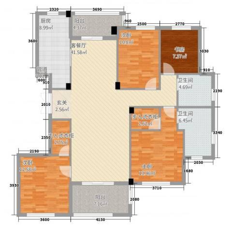 金溪园4室1厅2卫1厨422156.00㎡户型图