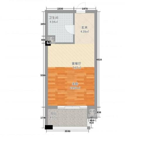 金融街中央领御1室0厅1卫0厨153.00㎡户型图