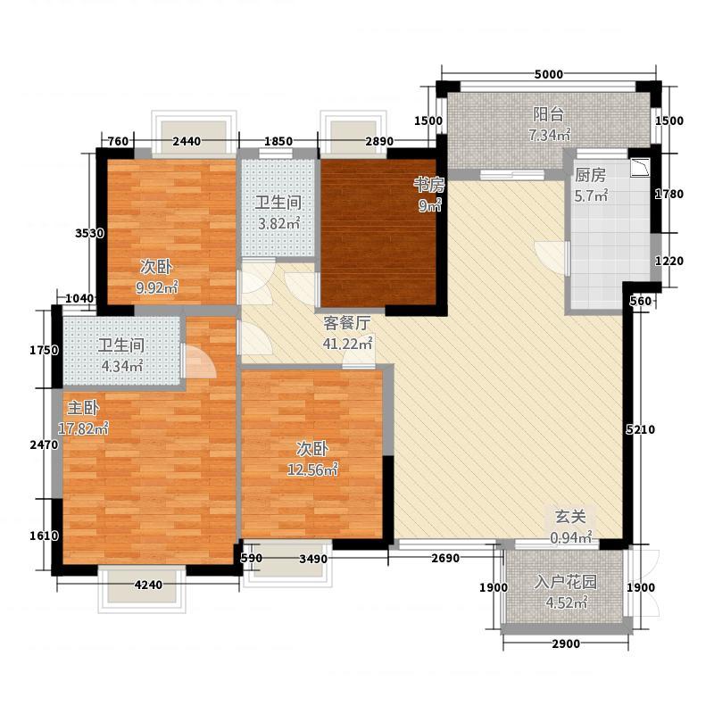 河池澳门国际城6414.20㎡B户型4室2厅2卫1厨