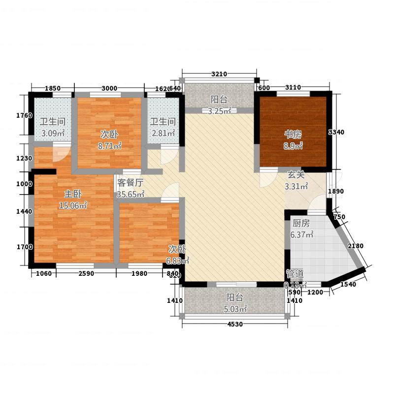 温泉泰鹤城142138.52㎡户型4室2厅2卫1厨