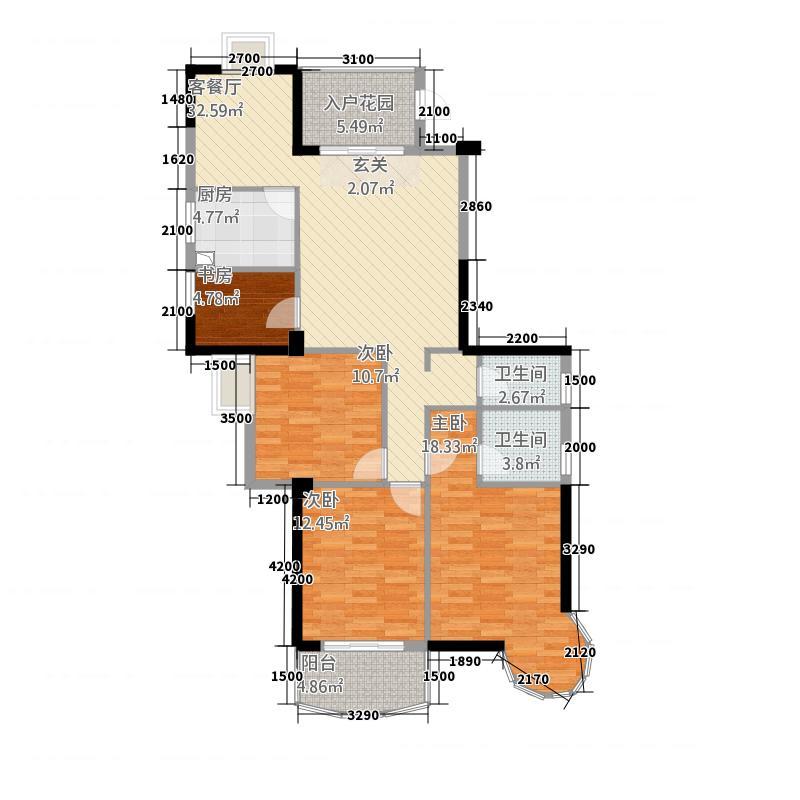 宏源大景城442125.13㎡户型4室2厅2卫1厨