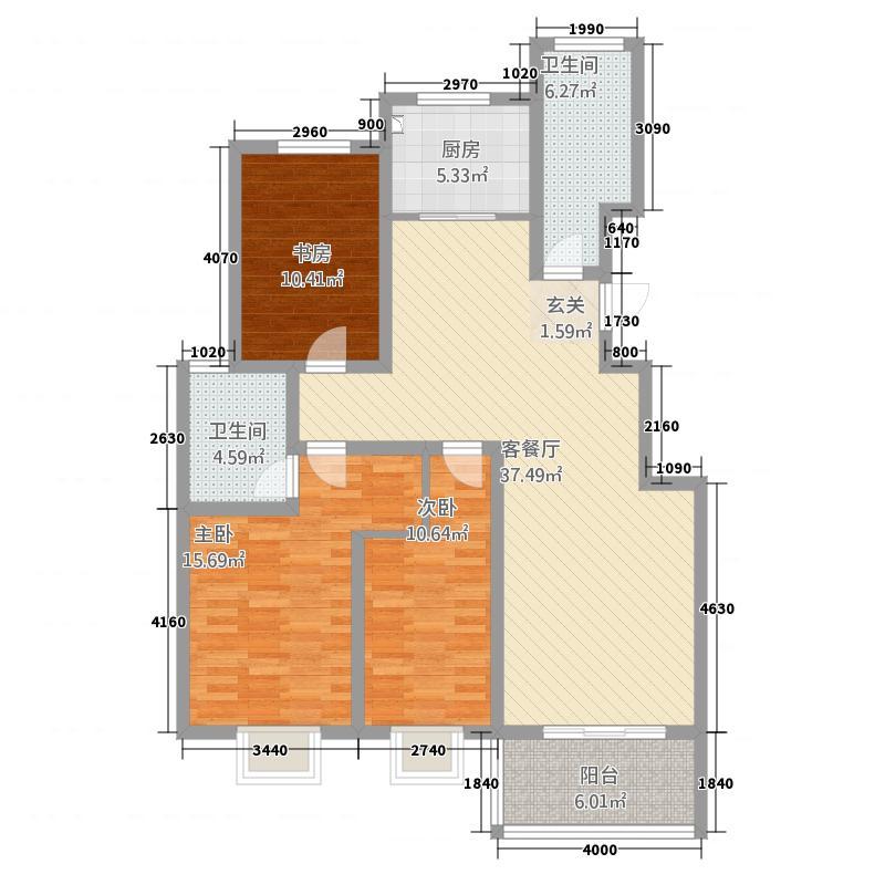 华安凤城丽景4.20㎡B4图库・139户型3室2厅2卫
