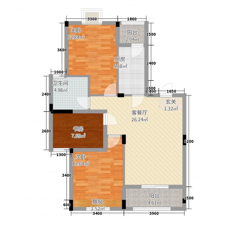 英伦名邸224.34㎡A户型2室2厅1卫1厨