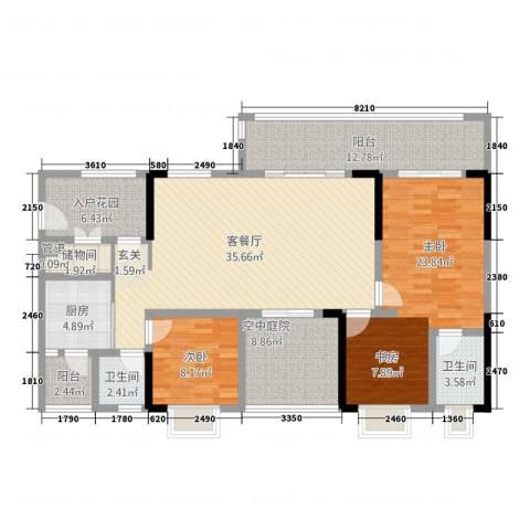 奥兰半岛二期2室1厅2卫1厨16126.00㎡户型图