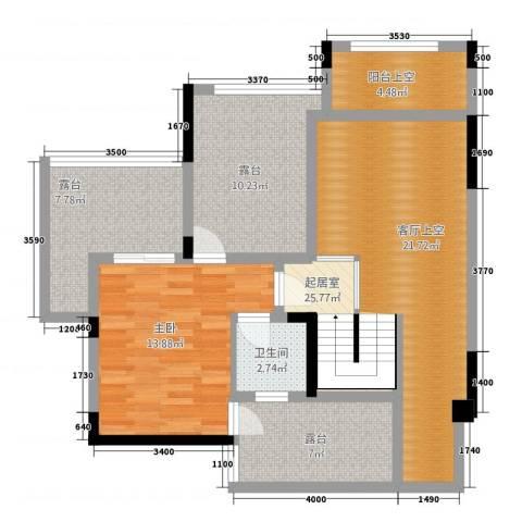 合川金科天籁城1室0厅1卫0厨105.00㎡户型图