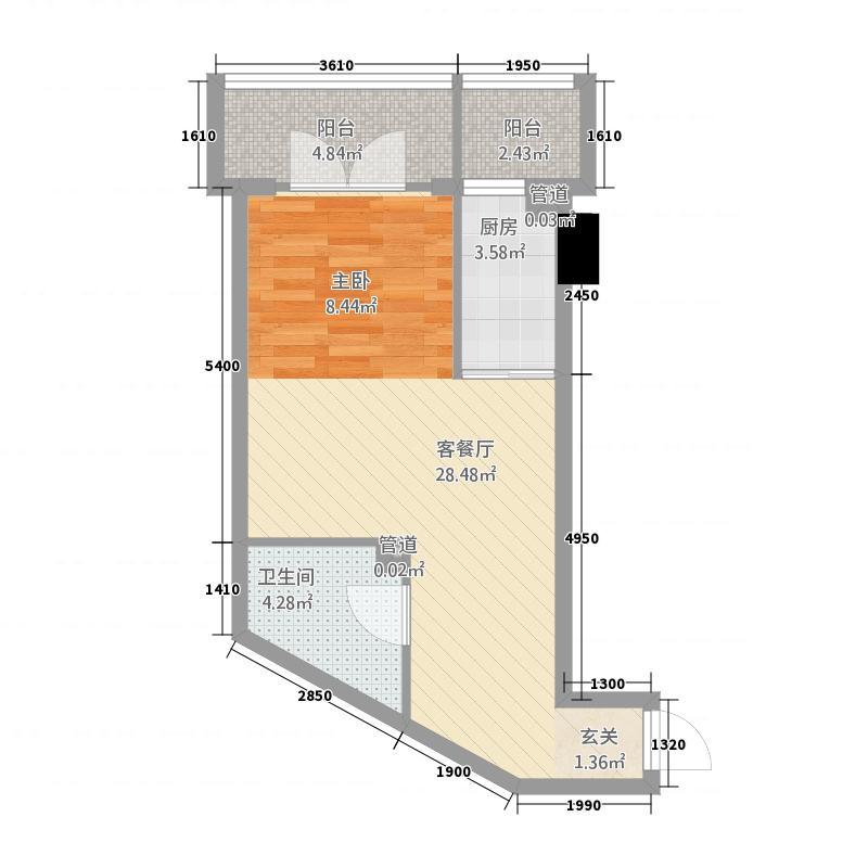 99号公馆115.22㎡K户型1室1卫1厨