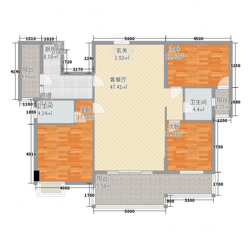 水口雅乐苑1113.20㎡11、13、18、19幢标准层B户型