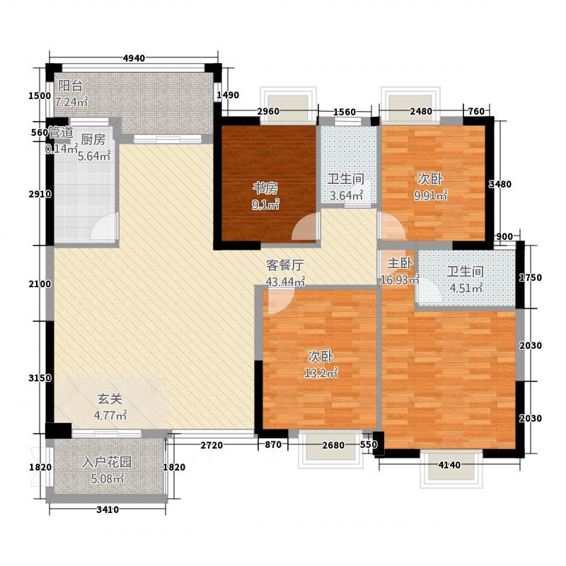 河池澳门国际城74154.20㎡B户型4室2厅2卫1厨