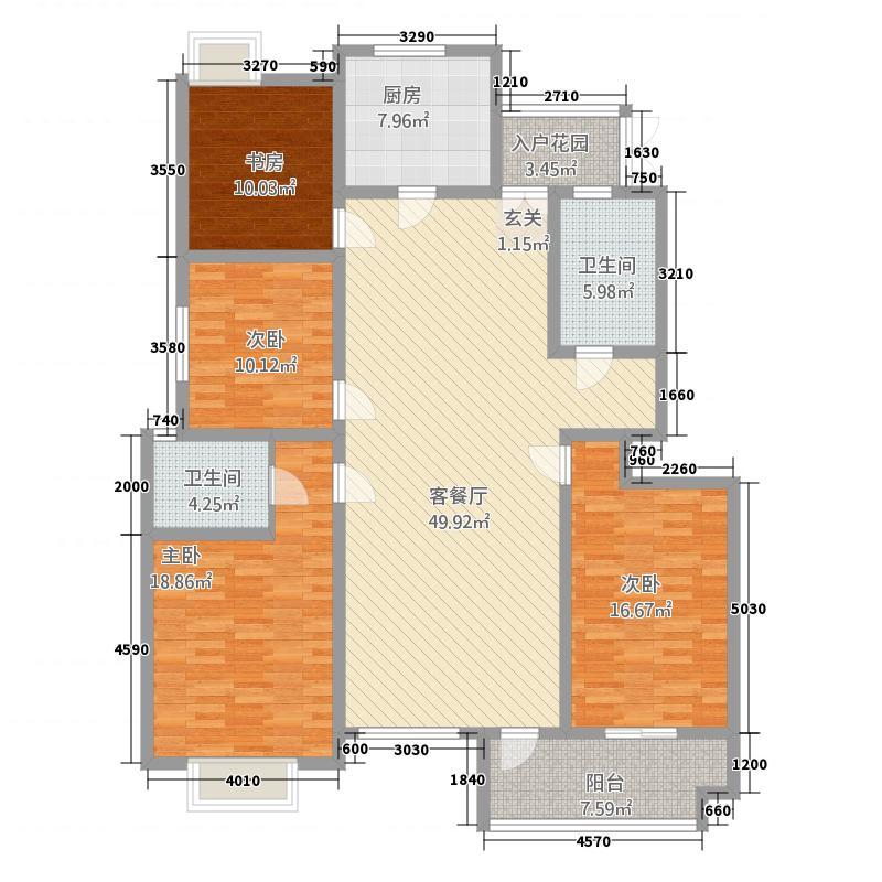 国际公寓二区166.20㎡D户型