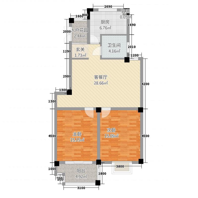 国际公寓二区5.20㎡A户型