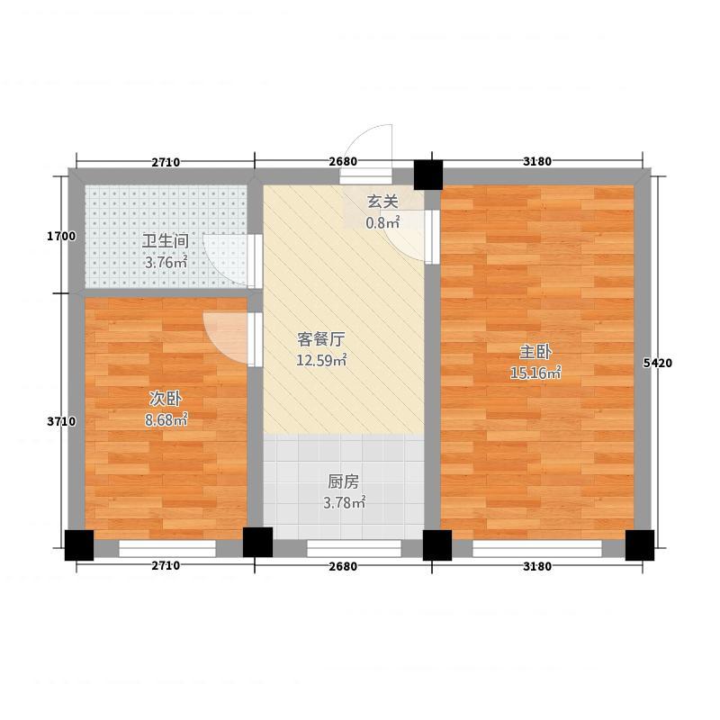 映豪小区5862158.00㎡户型2室1厅1卫