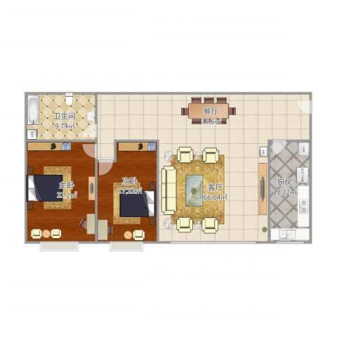 华星大厦2室1厅1卫1厨166.00㎡户型图
