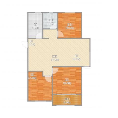 中建新悦城3室1厅1卫1厨112.00㎡户型图