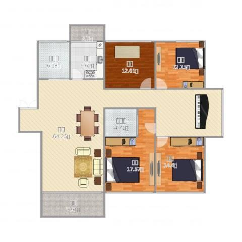 晨光绿苑4室1厅2卫1厨199.00㎡户型图