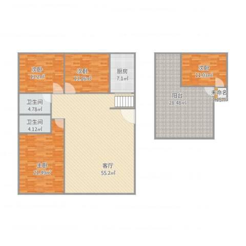 乐然居4室1厅2卫1厨212.00㎡户型图