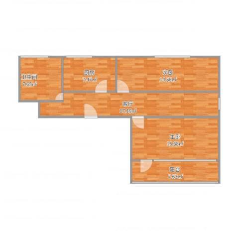 香源公寓2室1厅1卫1厨95.00㎡户型图