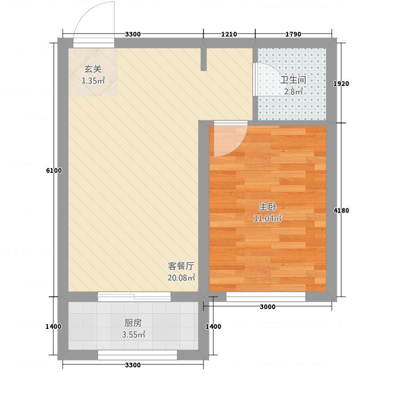 幸福里小区55.20㎡(7)户型1室1厅1卫1厨