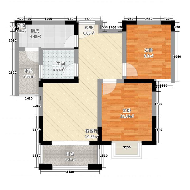 天润园2287.20㎡户型2室2厅1卫1厨
