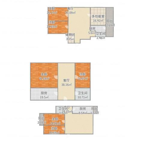 远翠中里6室3厅3卫3厨432.00㎡户型图