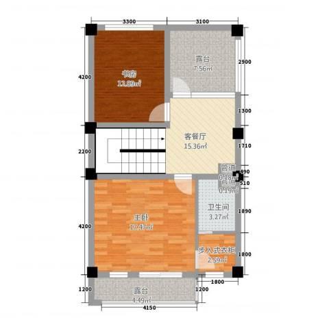 玉水金地・白沙墅2室1厅1卫0厨63.20㎡户型图