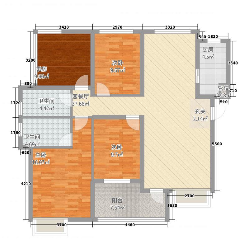 多彩城135.20㎡A户型4室2厅2卫1厨