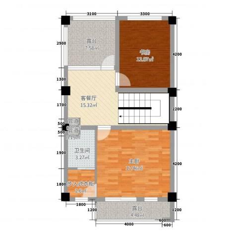 玉水金地・白沙墅2室1厅1卫0厨63.17㎡户型图