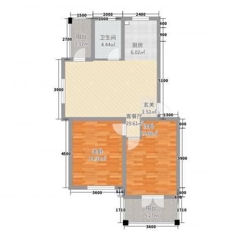 城站国际广场2室1厅1卫0厨112.00㎡户型图
