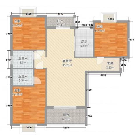 易居尚城3室1厅2卫1厨4115.00㎡户型图