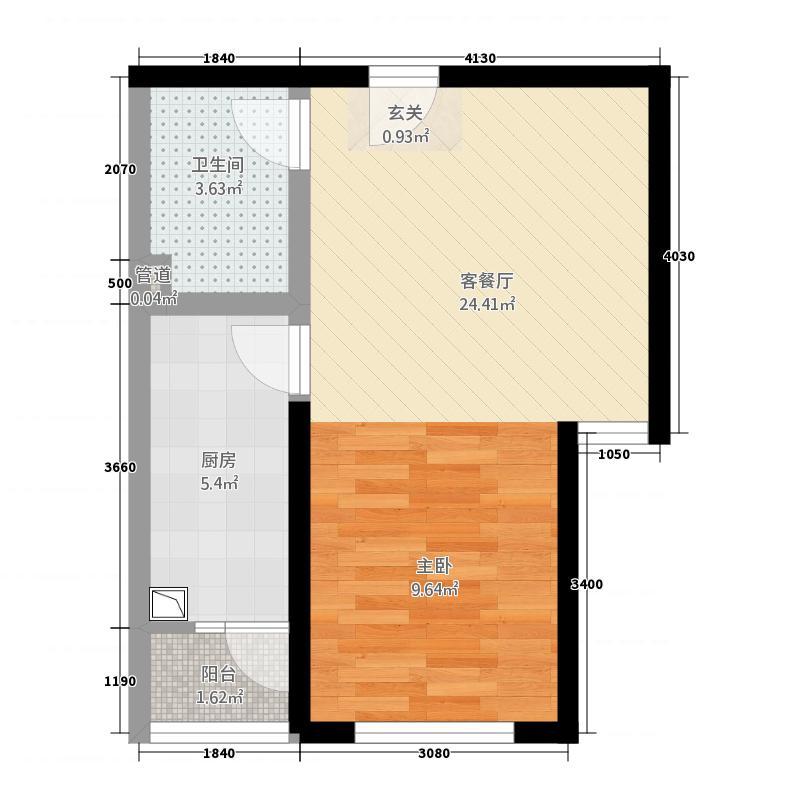 中集・青春里51.20㎡G户型1室2厅1卫1厨