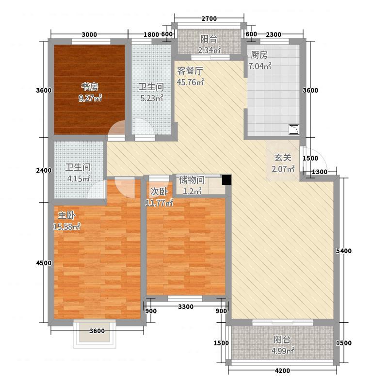 豫港花园32211363840.00㎡户型3室2厅2卫1厨