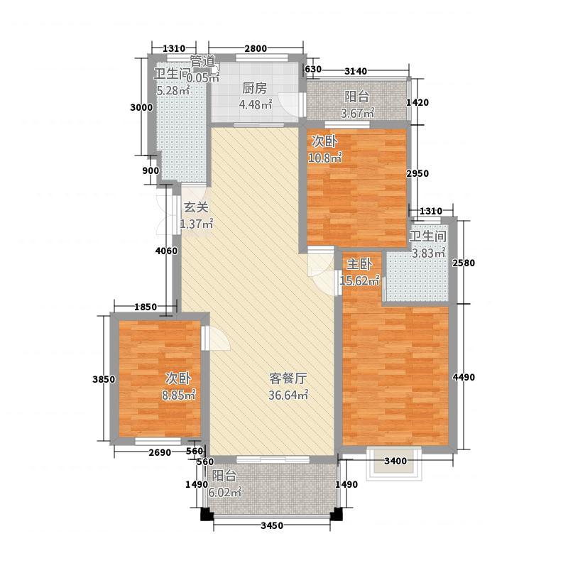 翡翠园32134.20㎡S户型3室2厅2卫1厨