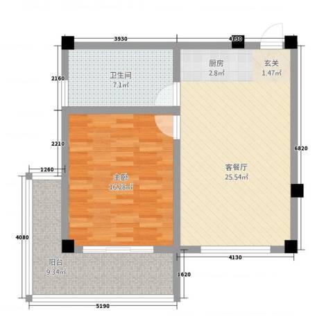 徽州庄园1室1厅1卫0厨82.00㎡户型图