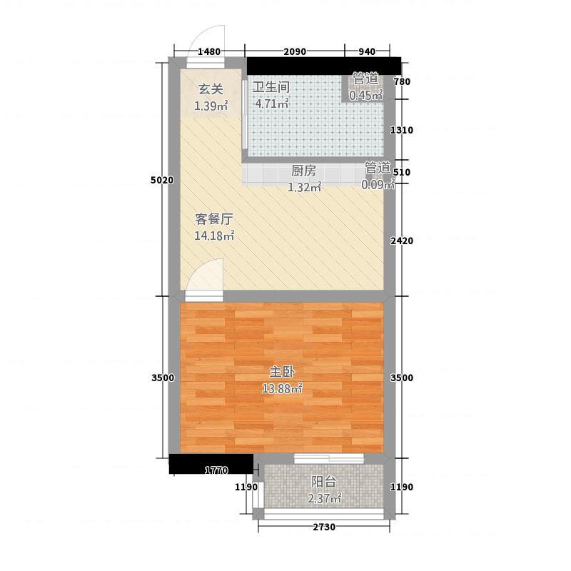 华懋大厦52.00㎡户型
