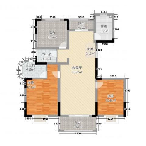 海纳国际2室1厅2卫1厨22123.00㎡户型图
